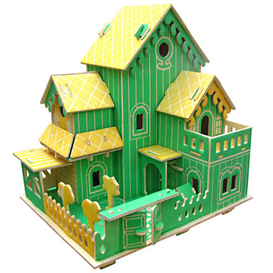 3D-puzzels Legpuzzel Houten modellen Architectuur 3D Simulatie DHZ Hout Natuurlijk Hout Verjaardag Unisex Geschenk