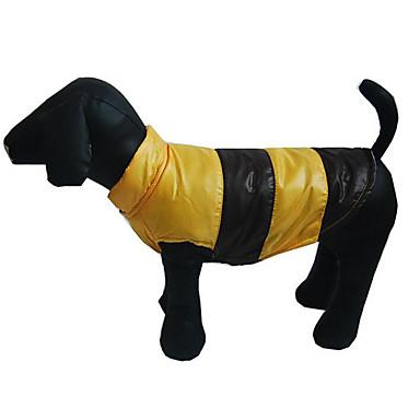 كلب سترة ملابس الكلاب دافئ متنفس كاجوال/يومي الرياضات بلوك ألوان برتقالي أصفر كوفي أزرق كوستيوم للحيوانات الأليفة