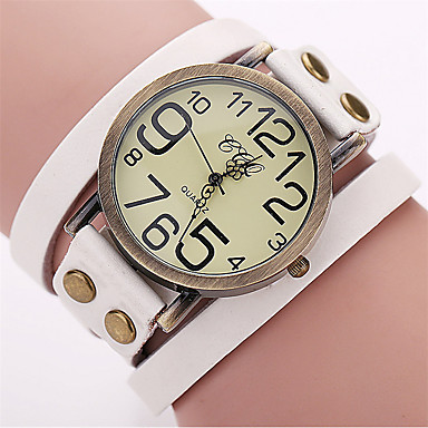 Herrn Einzigartige kreative Uhr Armband-Uhr Modeuhr Armbanduhren für den Alltag Chinesisch Quartz Armbanduhren für den Alltag Leder Band