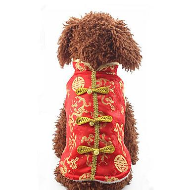 Hund Weste Hundekleidung Stickerei Baumwolle Daune Kostüm Für Haustiere Herrn Damen Lässig/Alltäglich Neujahr