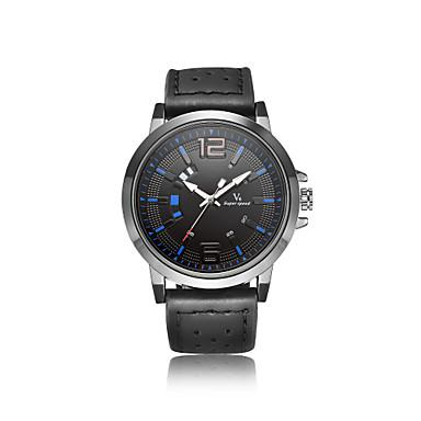 V6 Bărbați Quartz Ceas de Mână Japoneză Rezistent la Apă Piele Bandă Casual Ceas Elegant Modă Cool Negru Maro