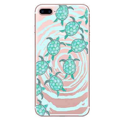 Case voor apple iphone 7 7 plus case cover schildpadden patroon geschilderd hoge penetratie tpu materiaal zacht geval telefoon hoesje voor