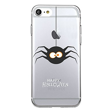 Maska Pentru Apple iPhone 7 Plus iPhone 7 Transparent Model Capac Spate Halloween Moale TPU pentru iPhone 7 Plus iPhone 7 iPhone 6s Plus