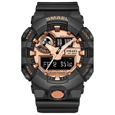 levne Pánské-SMAEL Pánské Sportovní hodinky Digitální hodinky japonština Křemenný Digitální Z umělé kůže Silikon Černá / Modrá / Červená 30 m Voděodolné Chronograf Odolný vůči nárazu Analog - Digitál Na běžn