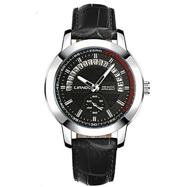 Bărbați Quartz Ceas de Mână cald Vânzare Piele Autentică Bandă Casual Modă Negru Maro