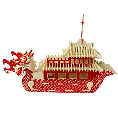 3D-puzzels Legpuzzel Hout Model Speeltjes Oorlogsschip Schip 3D DHZ Hout Natuurlijk Hout Unisex Stuks