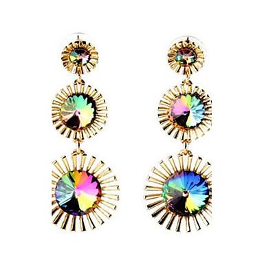 Dames Bergkristal Modieus Vintage PERSGepersonaliseerd Oversized Kostuum juwelen Legering Bloemvorm Sieraden Voor Feest Anders >>
