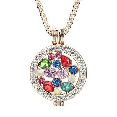 Pentru femei Rotund Personalizat Modă Elegant Coliere cu Pandativ Cristal Ștras Cristal Diamante Artificiale Aliaj Coliere cu Pandativ .