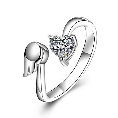 Pentru femei Inele Cuplu Zirconiu Cubic Diamant sintetic Lux Γεωμετρικά DIY Bijuterii Statement Chrismas Zirconiu Cubic Aliaj Geometric