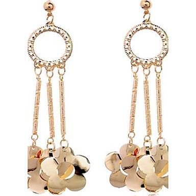 Damen Tropfen-Ohrringe individualisiert nette Art überdimensional Aleación Runde Form Blumenform Schmuck Für Bühne Formal Ausgehen
