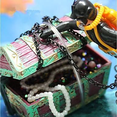 ديكور حوض السمك الزخارف بلاستيك