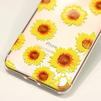 decorativo Apple retro disegno Per rilievo iPhone Per per Fiore TPU 7 in Custodia Plus iPhone 7 06110384 Transparente Fantasia Decorazioni Morbido B455aqwSxn