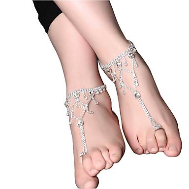 Pentru femei Brățară Gleznă Picătură Perle Roz Floral Argintiu Bijuterii Pentru Nuntă Logodnă Club Ieșire Stradă