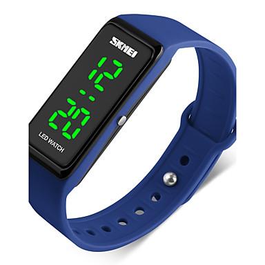זול שעוני גברים-SKMEI בגדי ריקוד גברים לזוג שעוני ספורט שעון יד דיגיטלי דמוי עור מרופד שחור 50 m עמיד במים לוח שנה שעון עצר דיגיטלי אדום ירוק כחול / זוהר בחושך