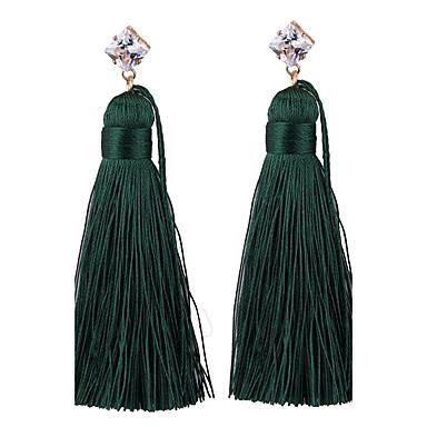 Pentru femei Ciucure / Boem Cercei Picătură - Ciucure / Boem / Modă Rosu / Verde / Albastru Deschis Geometric Shape cercei Pentru Nuntă /
