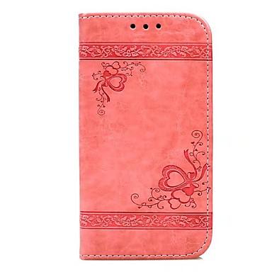 Maska Pentru Apple iPhone X iPhone 8 Plus Titluar Card Portofel Cu Stand Întoarce Embosat Carcasă Telefon Inimă Greu PU piele pentru