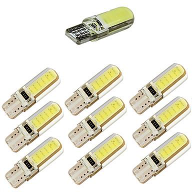 10pcs t10 cob 12 jetoane 150ma silicon shell 194 w5w carcasă silicon auto auto parcare lumina masina de styling roz dc12v