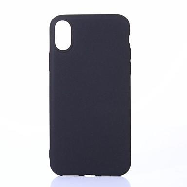 Pentru iPhone X iPhone 8 iPhone 8 Plus Carcase Huse IMD Carcasă Spate Maska Culoare solidă Moale TPU pentru Apple iPhone X iPhone 8 Plus