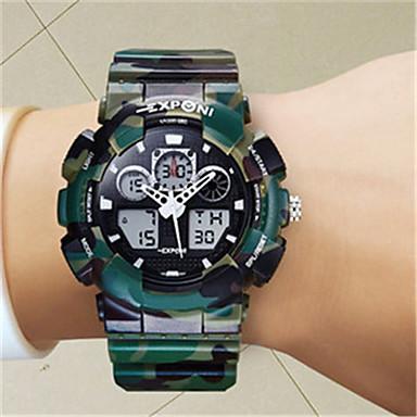 للرجال ساعة ذكية رقمي مقاوم للماء قضية مطاط فرقة الأبيض أزرق أخضر