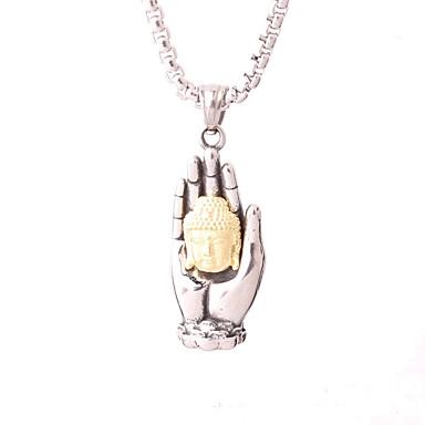 Bărbați Pentru femei Pandative Șuviță unică Geometric Shape Bijuterii Oțel titan Argilă Placat Auriu Vintage Personalizat Clasic Bling