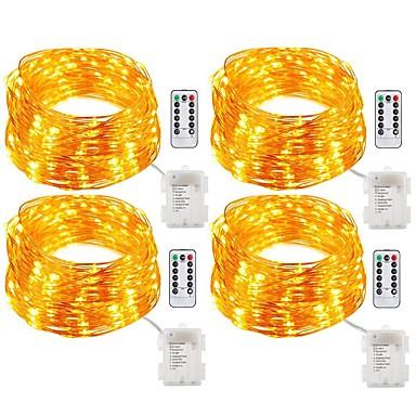 Fâșii de Iluminat 200 LED-uri Alb Cald Alb Multicolor Telecomandă Intensitate Luminoasă Reglabilă Rezistent la apă Schimbare - Culoare <5V