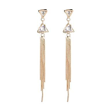 Pentru femei Cercei Picătură Cristal La modă Diamante Artificiale Aliaj Triangle Shape Bijuterii Pentru Petrecere Zilnic Scenă