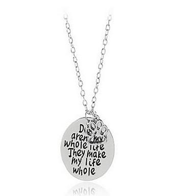 Dames Kettingen Sieraden Legering Modieus PERSGepersonaliseerd Initial Jewelry Eenvoudige Stijl Sieraden VoorVerjaardag Anders >>