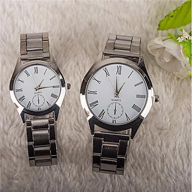 Bărbați Ceas de Mână Chineză Quartz Oțel inoxidabil Bandă Casual Argint