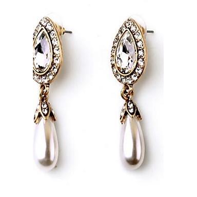 Damen Ohrringe Set Imitierte Perlen Strass Sexy Modisch Luxus-Schmuck Simple Style überdimensional Aleación Tropfen Schmuck FürHochzeit