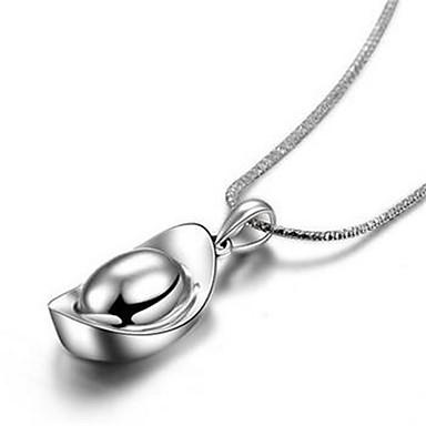 Dames Hangertjes ketting Sieraden Geometrische vorm Sterling zilver Modieus PERSGepersonaliseerd Sieraden Voor Bruiloft Feest Dagelijks