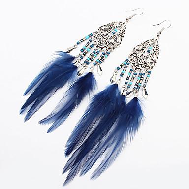 Dames Druppel oorbellen Sieraden Vintage Bohemia Style leuke Style Met de hand gemaakt Modieus Legering Veer Sieraden VoorDagelijks