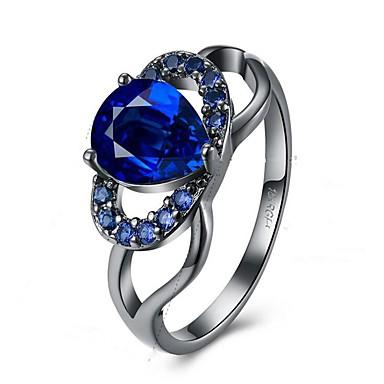 Dames Zirkonia Bergkristal Legering - Bloem Modieus Groen Blauwe LED Ring Voor Feest Verjaardag Lahja Dagelijks Causaal