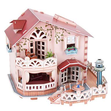 3D-puzzels Legpuzzel Poppenhuis Bouwplaat Beroemd gebouw Natuurlijk Hout Kinderen Unisex Geschenk