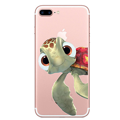 Maska Pentru Apple iPhone X iPhone 8 Transparent Model Capac Spate Animal Moale TPU pentru iPhone X iPhone 8 Plus iPhone 8 iPhone 7 Plus