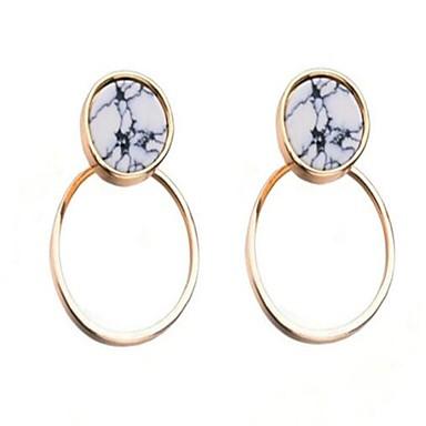 Damen Tropfen-Ohrringe Modisch individualisiert Simple Style überdimensional Aleación Runde Form Schmuck Für Sonstiges Normal Verabredung