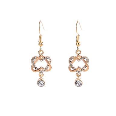 Pentru femei Cercei Picătură imitație de diamant La modă Clasic Aliaj Geometric Shape Bijuterii Pentru Petrecere Zilnic Serată Scenă