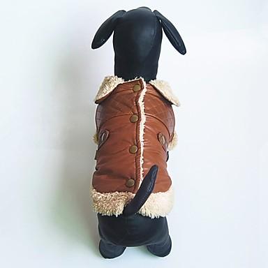 Hond Gilet Hondenkleding Casual/Dagelijks Effen Koffie Rood