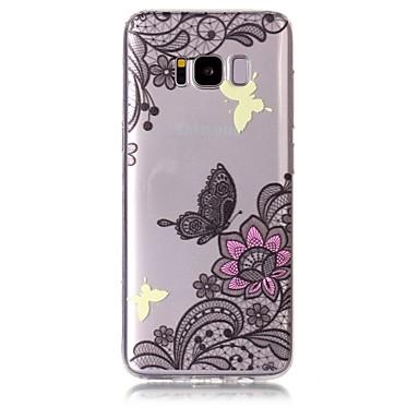 hoesje Voor Samsung Galaxy S8 Plus S8 Patroon Achterkant Vlinder Bloem Zacht TPU voor S8 Plus S8 S7 edge S7 S6 edge S6
