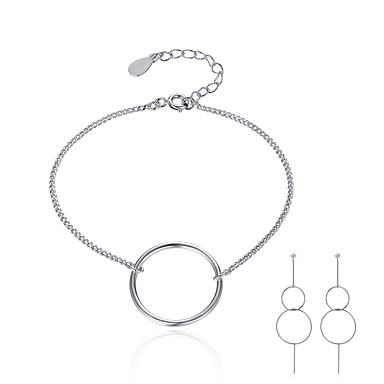 Pentru femei Plastic Set bijuterii - Modă / stil minimalist Argintiu Cercei Picătură / Brățară Pentru Cadou / Zilnic