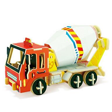 Spielzeug-Autos 3D - Puzzle Holzpuzzle Holzmodelle Aushebemaschinen 3D Holz Naturholz Baustellenfahrzeuge Jungen Unisex Geschenk
