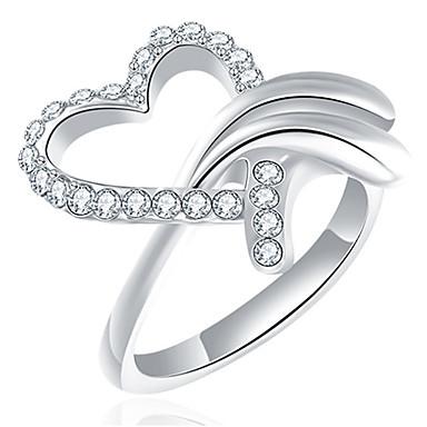 Pentru femei Verighete Ștras Design Basic Iubire Sexy La modă Personalizat Cute Stil bijuterii de lux Clasic Elegant Aliaj Heart Shape