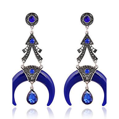 Dames Druppel oorbellen imitatie Sapphire Vintage Hars Legering Sieraden Sieraden Voor Dagelijks Causaal