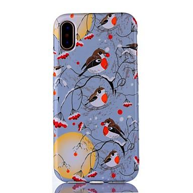 Pentru iPhone X iPhone 8 iPhone 8 Plus Carcase Huse Ultra subțire Model Carcasă Spate Maska Animal Copac Moale TPU pentru Apple iPhone X