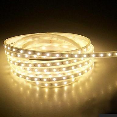 4m 220v higt fényes LED szalag rugalmas 5050 240smd három kristály vízálló fény bár kerti lámpák EU hálózati csatlakozó