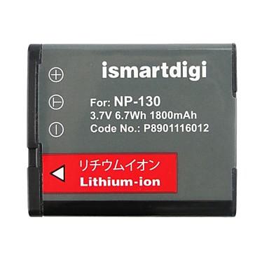 ismartdigi cnp130 3.7V 1800mah camera pentru acumulator casio np130 h30 h35 zr100 zr200 zr300
