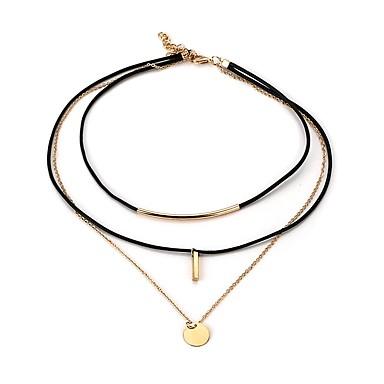 Pentru femei Circle Shape Line Shape Modă stil minimalist Coliere cu Pandativ Piele  Aliaj Coliere cu Pandativ . Casual Oficial