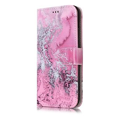 Pentru iPhone X iPhone 8 iPhone 8 Plus Carcase Huse Portofel Titluar Card Cu Stand Întoarce Model Corp Plin Maska Marmură Greu PU Piele