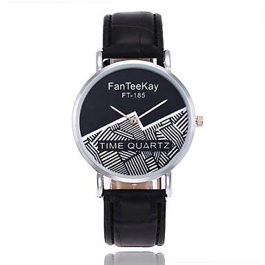 Bărbați Pentru femei Unic Creative ceas Ceas de Mână Ceas La Modă Chineză Quartz cald Vânzare PU Bandă Casual Negru Alb Maro