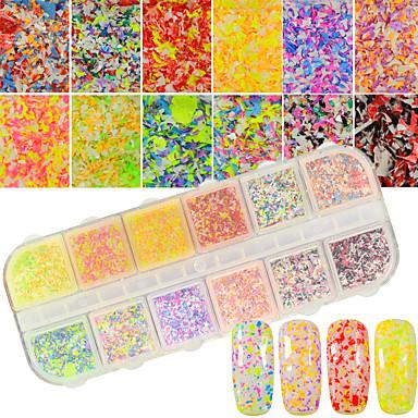 12 culori / cutie artistic ninsoare decoratiuni unghii pudra diy unghii salon