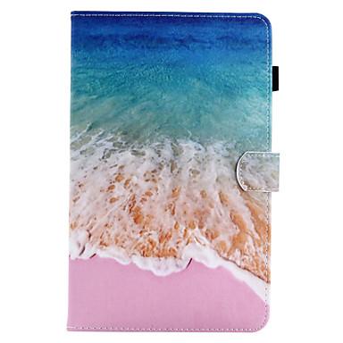 voordelige Samsung Tab-serie hoesjes / covers-hoesje Voor Samsung Galaxy / Tabblad Een 8.0 / Tabblad Een 9.7 Tab E 9.6 / Tab E 8.0 / Tab A 10.1 (2016) Portemonnee / Kaarthouder / met standaard Volledig hoesje Landschap Hard PU-nahka